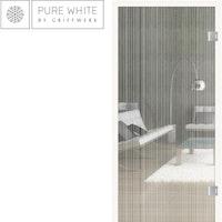 GRIFFWERK Ganzglastüre SUMMER RAIN-PURE WHITE-Siebdruck/satiniert