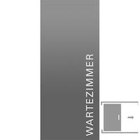 GRIFFWERK Ganzglasschiebetüre TYPO LD-554 ESG Laserdekor