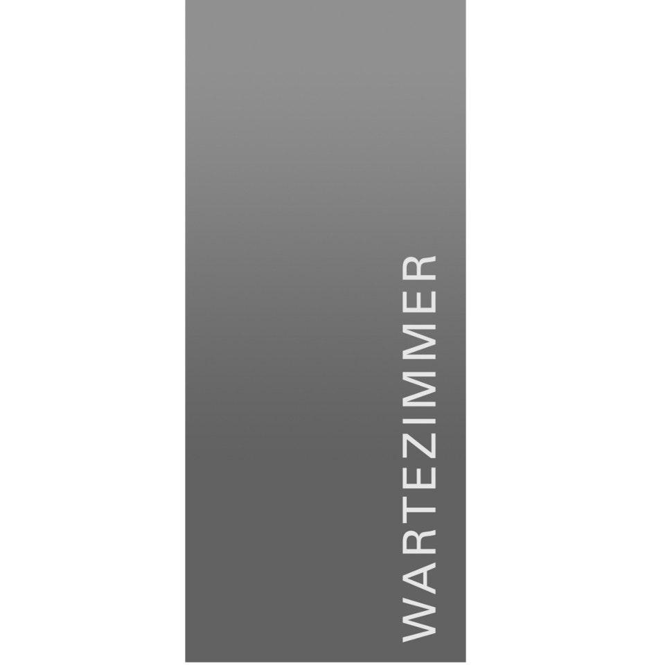 GRIFFWERK Ganzglasdrehtür Typo_LD_554_2 ESG MOON GREY Laser Satiniert  70,9 cm x 209,7 cm DIN Rechts