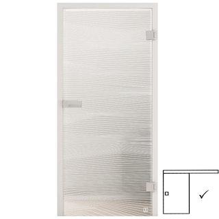 GRIFFWERK Ganzglasschiebetüre JETTE VISION_560-ESG PURE WHITE-Siebdruck/satiniert