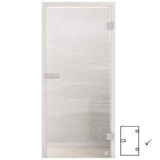 GRIFFWERK Ganzglastüre JETTE VISION_560-ESG PURE WHITE-Siebdruck/satiniert