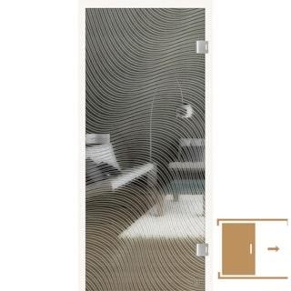 GRIFFWERK Ganzglasschiebetüre JETTE WAVE -Lasertechnik / ESG