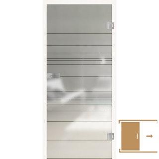 GRIFFWERK Ganzglasschiebetüre LINES DIFFERENT-570 PURE WHITE ESG