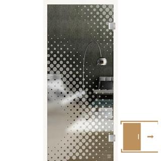 GRIFFWERK Ganzglasschiebetüre JETTE DOTS -Lasertechnik / ESG