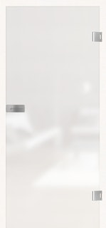 GRIFFWERK Ganzglastüre SNOWWHITE VSG PURE WHITE Folie farbig