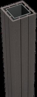 GroJa Fertigzaun Torpfosten stahlverstärkt inkl. Pfostenkappe 7 x 7