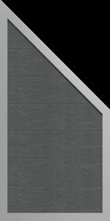 GroJa Viento Designzaun Typ Schräg 90x180/90 - Ziegelgrau