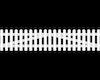 GroJa BasicLine Zaunpforte Kunststoff 2-flügelig B 300 cm H 63/90cm gerade