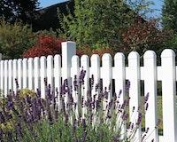 GroJa BasicLine Kunststoff Gartenzaun-Element B 180 cm H 63/90cm gerade