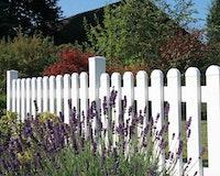 GroJaExklusiv Gartenzaun Kunststoff gerader Verlauf 74 cm 3 Farben 5 lichte Breiten