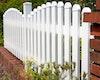 GroJaExklusiv Gartenzaun Kunststoff Bogen oben 87/101 cm 3 Farben 5 lichte Breiten