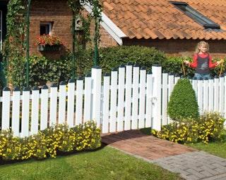 GroJa Exklusiv Gartenpforte Kunststoff einflügelig 100 cm 3 Farben