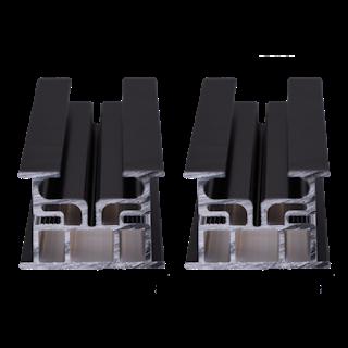 GroJa SYSTEM Alu-System UK Set Schwarz VE 2 á 300 mm