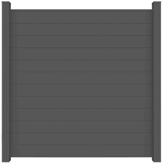 GroJa Lumino Tor Universal 1-flügelig mit Anthrazitrahmen