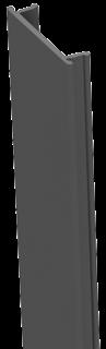 GroJa Stecksystem Alu-Abdeckleiste, 100cm für 7x7er u. 9x9er Pfosten