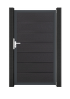 GroJa Solid Grande Tor 1-flügelig Sondermaß mit Anthrazitrahmen