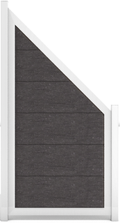 GroJa Viento Designzaun Typ Schräg 90x180/90 mit Rahmen Silber