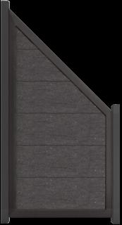 GroJa Viento Designzaun Typ Schräg 90x180/90 mit Rahmen Anthrazit