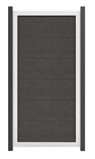 GroJa Viento Designzaun Typ Hochkant 90x180 mit Rahmen Silber