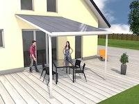 Gutta Terrassendachsystem Typ D/E/F weiß/anthrazit