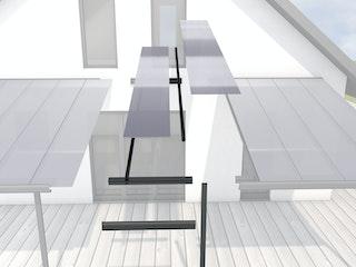 Gutta Erweiterungsmodul 120 cm Typ C/F weiß/anthrazit