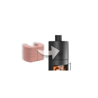 Haas+Sohn Kaminofen Wärmespeicherblock FICUS aus Magnesitstein