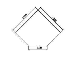 Haas+Sohn Funkenschutzplatte Klarglas Form B- mit abgeschrägten Kanten