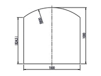 Haas+Sohn Funkenschutzplatte Klarglas Form E - mit Segmentboden