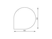 Haas+Sohn Funkenschutzplatte Klarglas Form F - in Tropfenform
