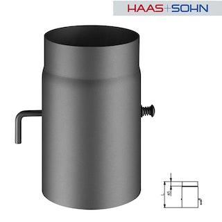 Haas+Sohn Rauchrohr mit Drosselklappe für Kaminöfen Ø15 cm