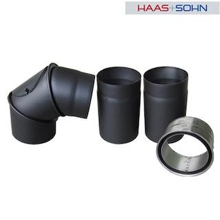 Haas+Sohn Rauchrohr-Set für Kaminbausatz-&einsatz -perl-schwarz