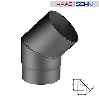 Haas+Sohn Rauchrohr Knie 45° Grad für Kaminöfen Ø 15 cm-geschweißt