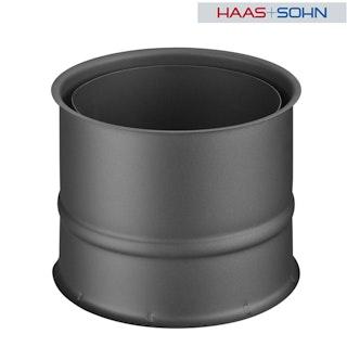 Haas+Sohn Wandfutter doppelt für Kaminbausatz-&einsatz -perl-schwarz