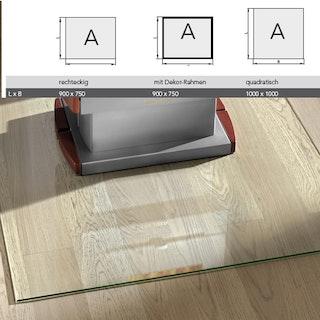 Haas+Sohn Unterlegsplatte Klarglas ESG mit polierten Kanten-Form A
