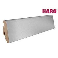 HARO Steckfußleiste für Parkett versiegelt Aluminium/MDF-Träger