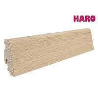 HARO Steckfußleiste für Parkett geölt Eiche weiß