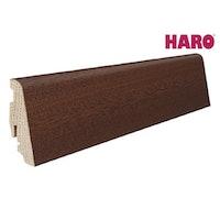 HARO Steckfußleiste für Parkett versiegelt-Merbau