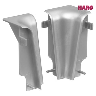 HARO Innenecken für Steckfußleiste Silber 19x58 mm
