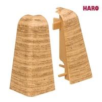 HARO Außenecken für Steckfußleiste Eiche 19x58 mm