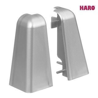 HARO Außenecken für Steckfußleiste Silber 19x58 mm