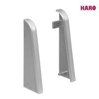 HARO Endkappen für Steckfußleiste Silber 19x58 mm