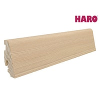 HARO Steckfußleiste für Parkett geölt Lärche weiß