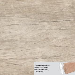 HARO Steckfußleiste DISANO SmartAqua Antikeiche creme wasserresistent