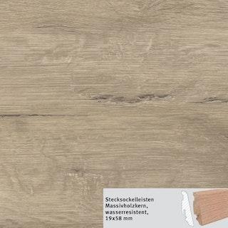 HARO Steckfußleiste DISANO SmartAqua Eiche Columbia grau wasserresistent