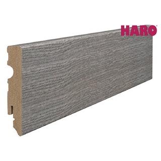 HARO Steckfußleiste für Laminat Eiche antikgrau