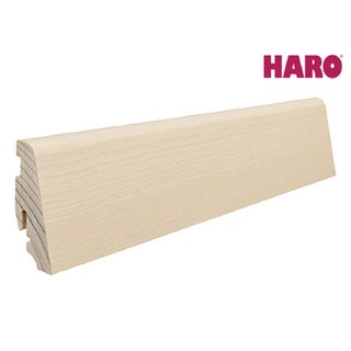 HARO Steckfußleiste für Parkett geölt Esche weiß