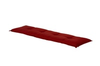 Hartman Bankauflage HAVANA 180 x 50 x 9 cm, 100 % Polyacryl red