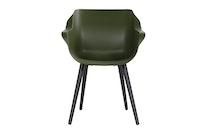 Hartman Armchair SOPHIE Studio Aluminium carbon black / Kunststoff moss green