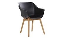 Hartman Armchair SOPHIE Teak / Kunststoff carbon black