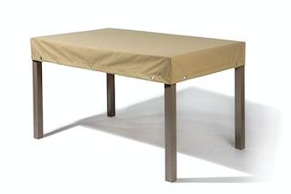Heinemeyer Abdeckhaube für Tische  220 x 100 cm, mit Abhang, Teak Safe creme